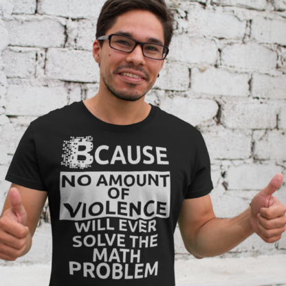 No Violence Will Ever Solve The Cryptography Maths Unisex T-Shirt
