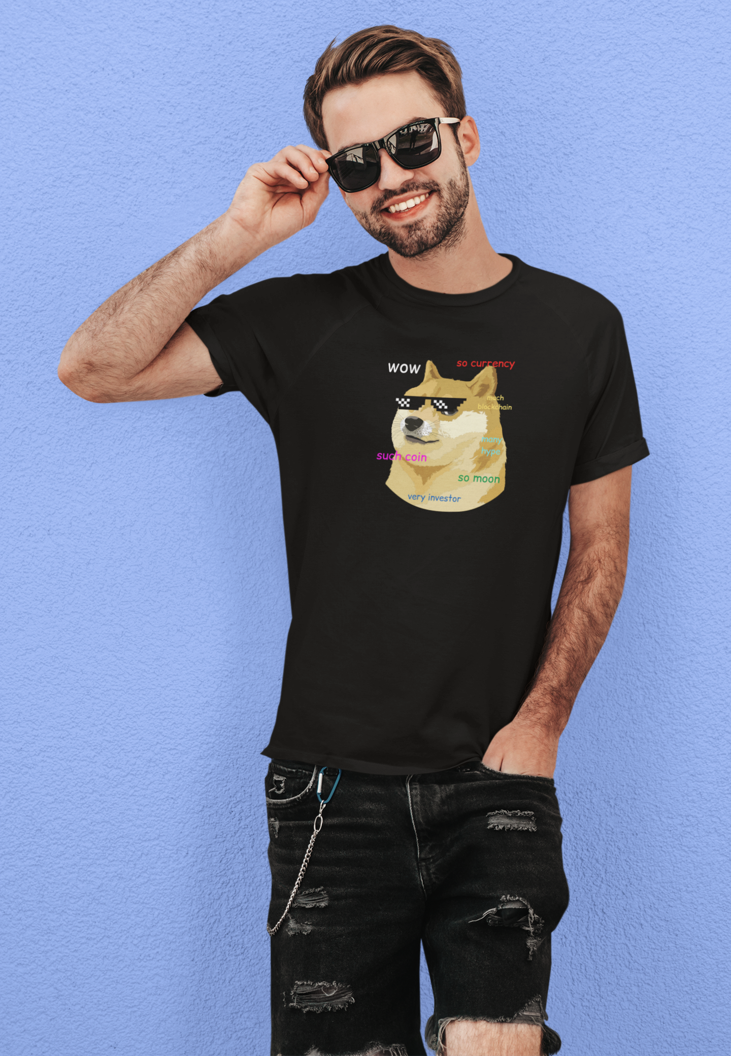 Doge Coin Funny Crypto Unisex T-Shirt
